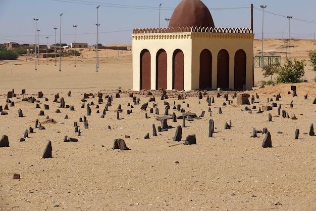 Arabische begraafplaats in soedan, afrika