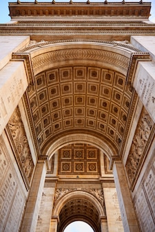 Arc de triomphe in parijs boog van triumph