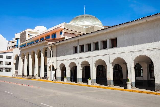 Archeologiemuseum in huaraz-stad in peru