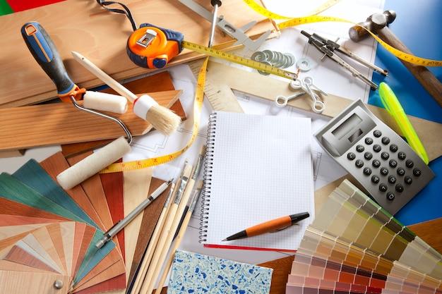 Architect bureau ontwerper werkplek spiraal notebook