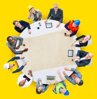 Architect engineer meeting people brainstormen concept