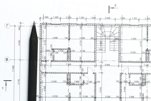 Architect heeft een bovenaanzicht.
