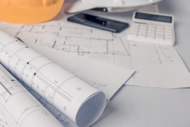 Architect, ingenieursconcept, vertegenwoordigt de werkstijl van architecten
