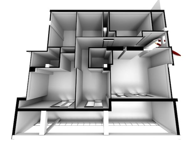 Architectonisch model van een huis