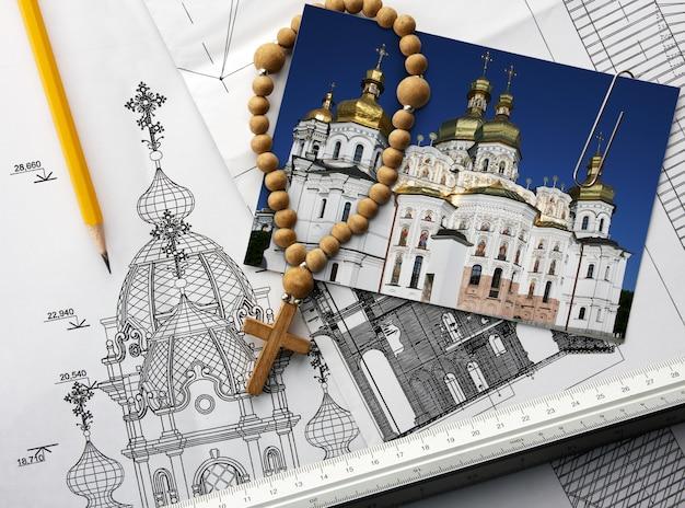 Architectonisch project van christelijke kerk