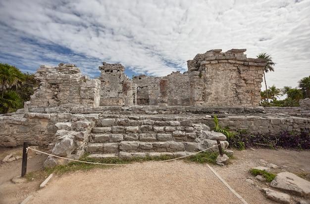 Architectonische details van de ruïnes van tulum #3