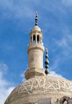 Architectonische elementen van de moskee el mustafa in sharm el sheikh.