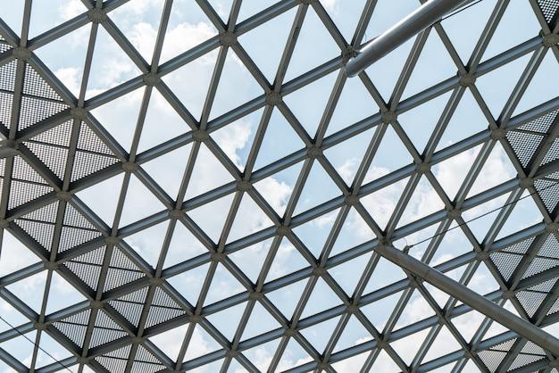 Architectonische kenmerken, metalen frame close-up