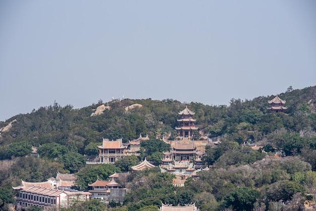 Architecturaal complex van mazu-tempel op meizhou-eiland, china