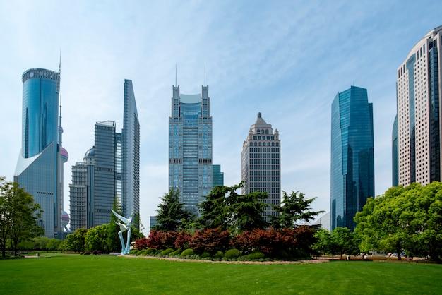 Architecturale landschapshorizon en stad