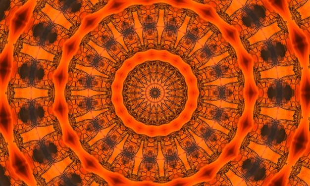 Architecturale oranje blauwdruk achtergrond. oranje caleidoscoop, moderne illustratie.
