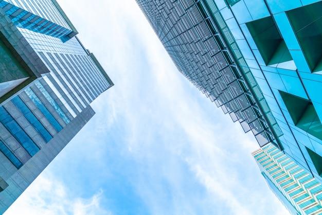 Architectuur bedrijfskantoor gebouw exterieur wolkenkrabber
