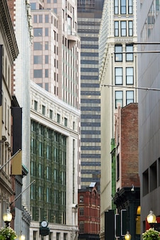 Architectuur buildins in stad de stad in boston