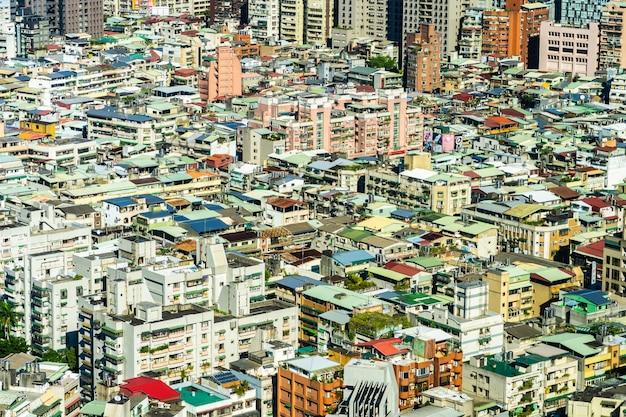 Architectuur de bouwbuitenkant in de stad van taipeh in taiwan