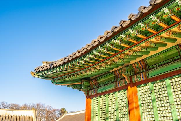 Architectuur die het paleis van changdeokgung in de stad van seoel bouwen