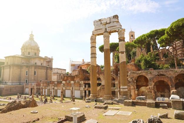 Architectuur en oriëntatiepunt van antiek rome
