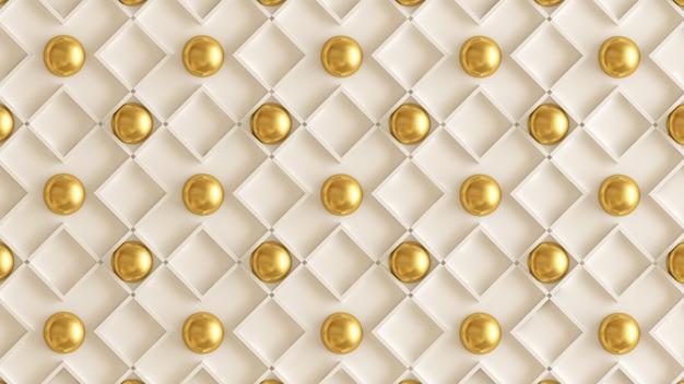 Architectuur, interieur patroon, wit, geel, goud textuur muur. 3d-weergave.