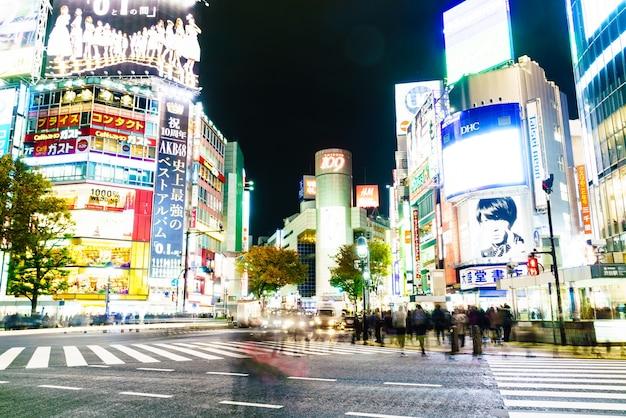 Architectuur japan stad stedelijke weg