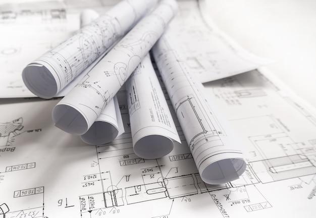 Architectuur papieren plannen