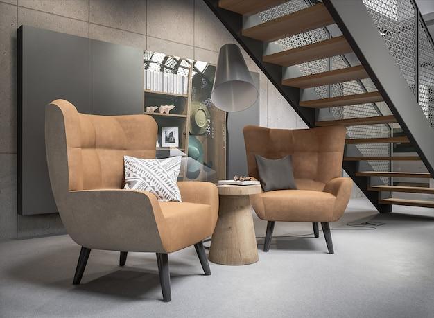 Architectuur stijlvolle kamer