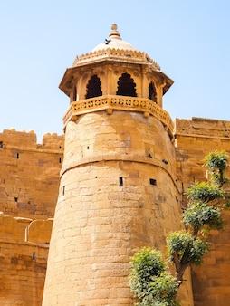 Architectuur van jaisalmer-fort, rajasthan, india.