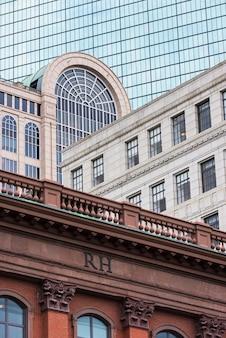 Architectuurgebouwen in stad de stad in van boston