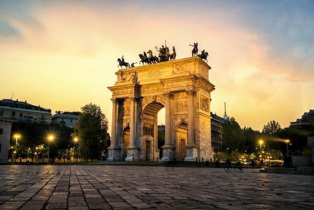 Arco della pace in milaan