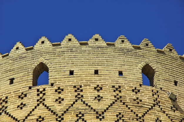 Arg citadel in de stad iran van shiraz