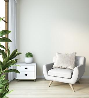 Arm stoel mock up op moderne zen kamer japanse stijl