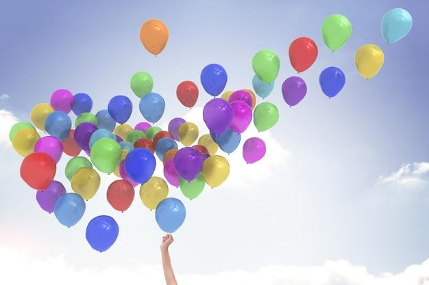Arm vrijgeven van ballonnen