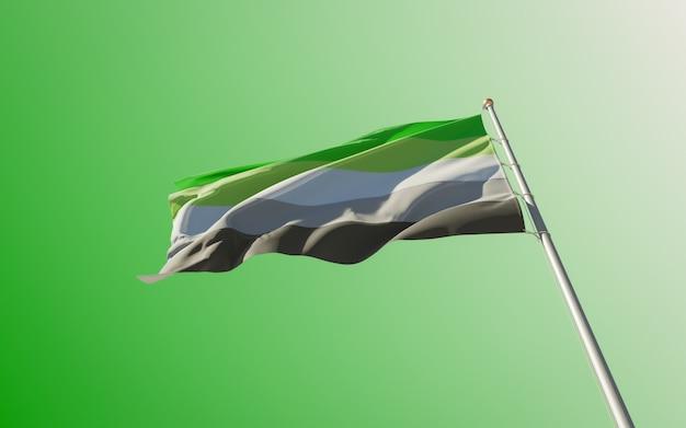 Aromantic pride flag op gekleurde achtergrond