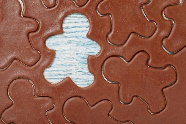 Aromatisch deeg voor peperkoekman kerstkoekjes