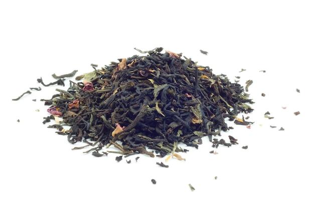 Aromatisering van zwarte thee geïsoleerd