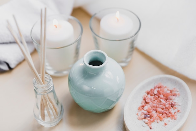 Aromazout en kaarsen