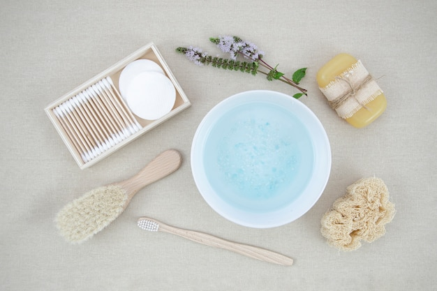 Arrangement met badzout en zeep