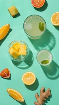 Arrangement met heerlijke gefermenteerde dranken