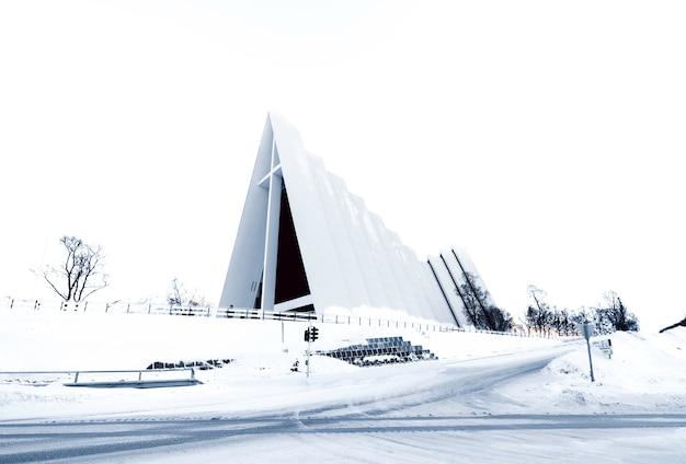 Arthische kathedraal in tromso, noorwegen