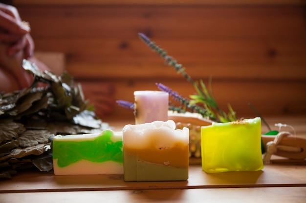 Artikelen voor ontspanning en ontspanning in de sauna