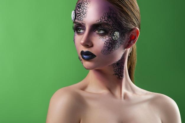 Artistiek make-upmodel