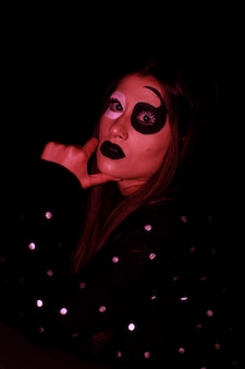 Artistieke horror halloween-make-up