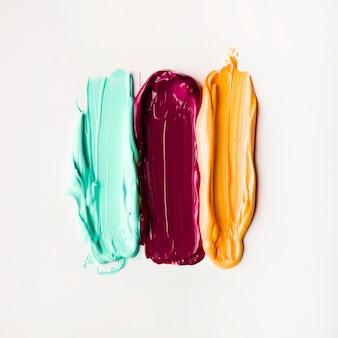 Artistieke kleurrijke penseelstreken van verf