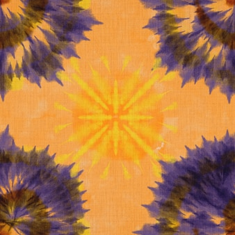 Artistieke stof stropdas kleurstof gestreept patroon inkt achtergrond boheemse spiraal