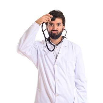 Arts op witte achtergrond