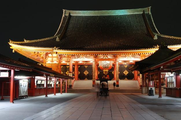 Asakusa-tempel bij nacht