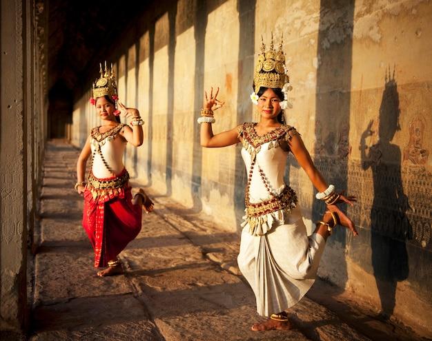Aspara-dansers in angkor wat