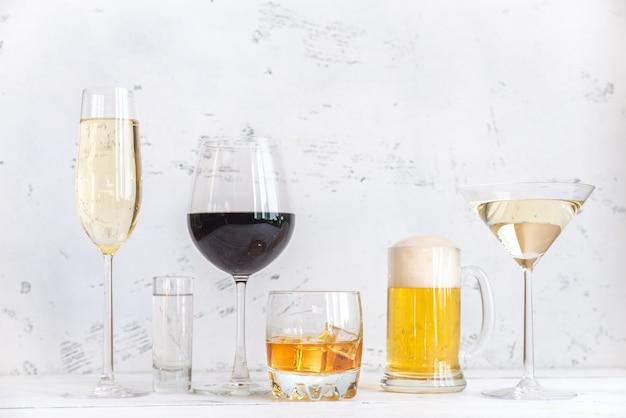 Assortiment alcoholische dranken