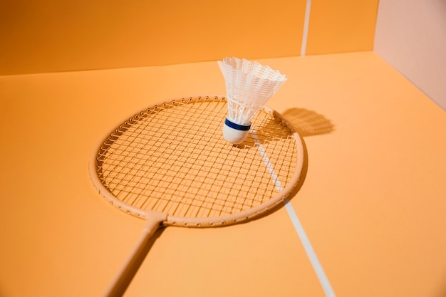 Assortiment badmintonracket en shuttle