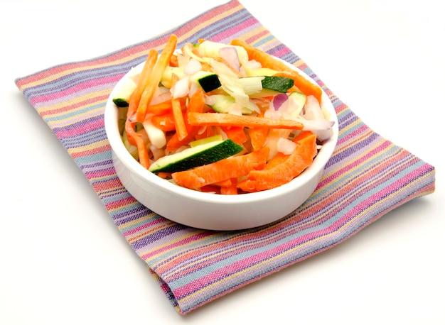 Assortiment gesneden groenten