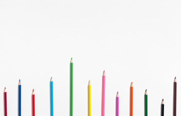 Assortiment kleurrijke potloden