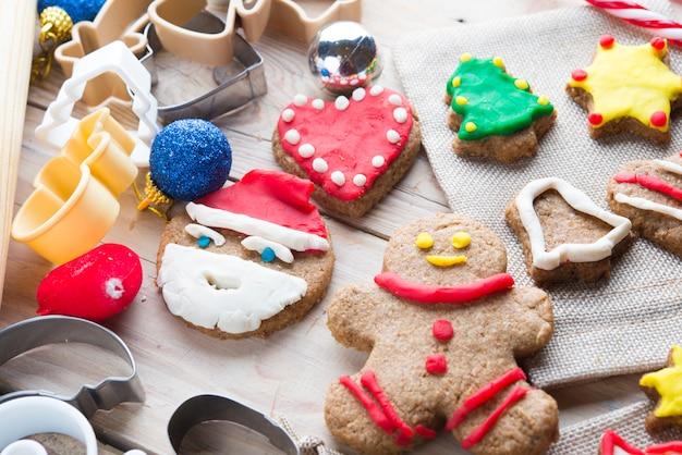 Assortiment koekjes voor kerstmis